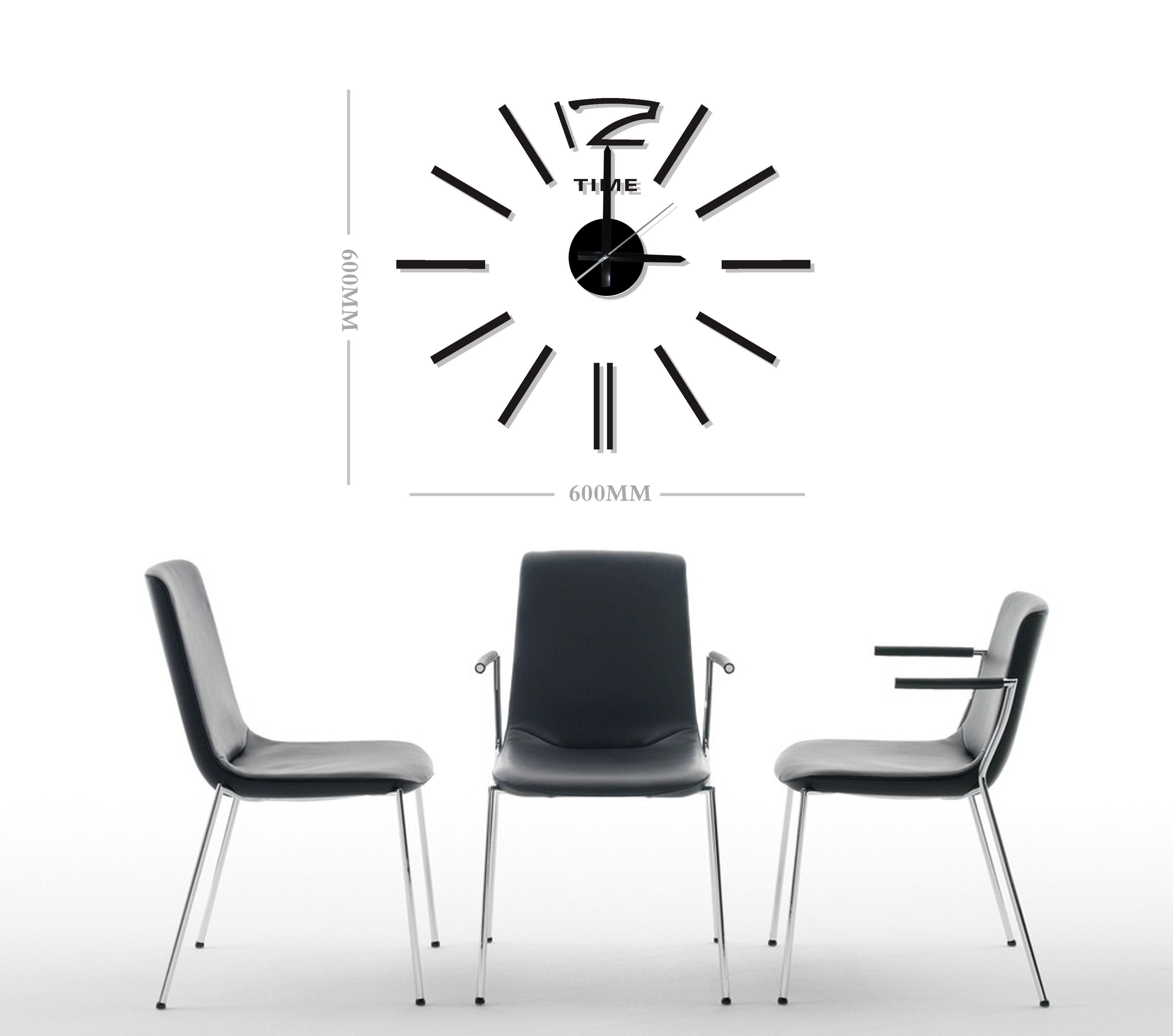 design 2 wanduhr 60 cm 3 d xl uhr moderne selbst. Black Bedroom Furniture Sets. Home Design Ideas