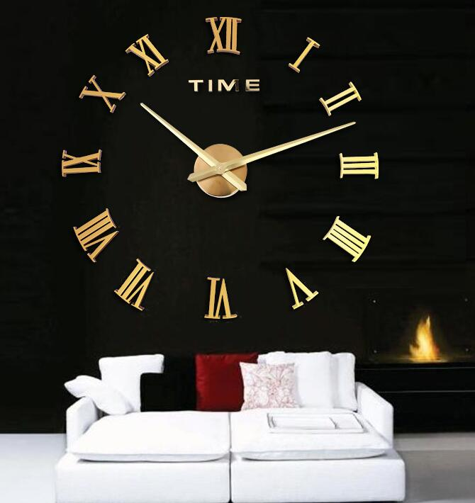 design wanduhr 100 cm 3 d xxxl uhr moderne selbst gestaltbare r mishe zahl gold ebay. Black Bedroom Furniture Sets. Home Design Ideas