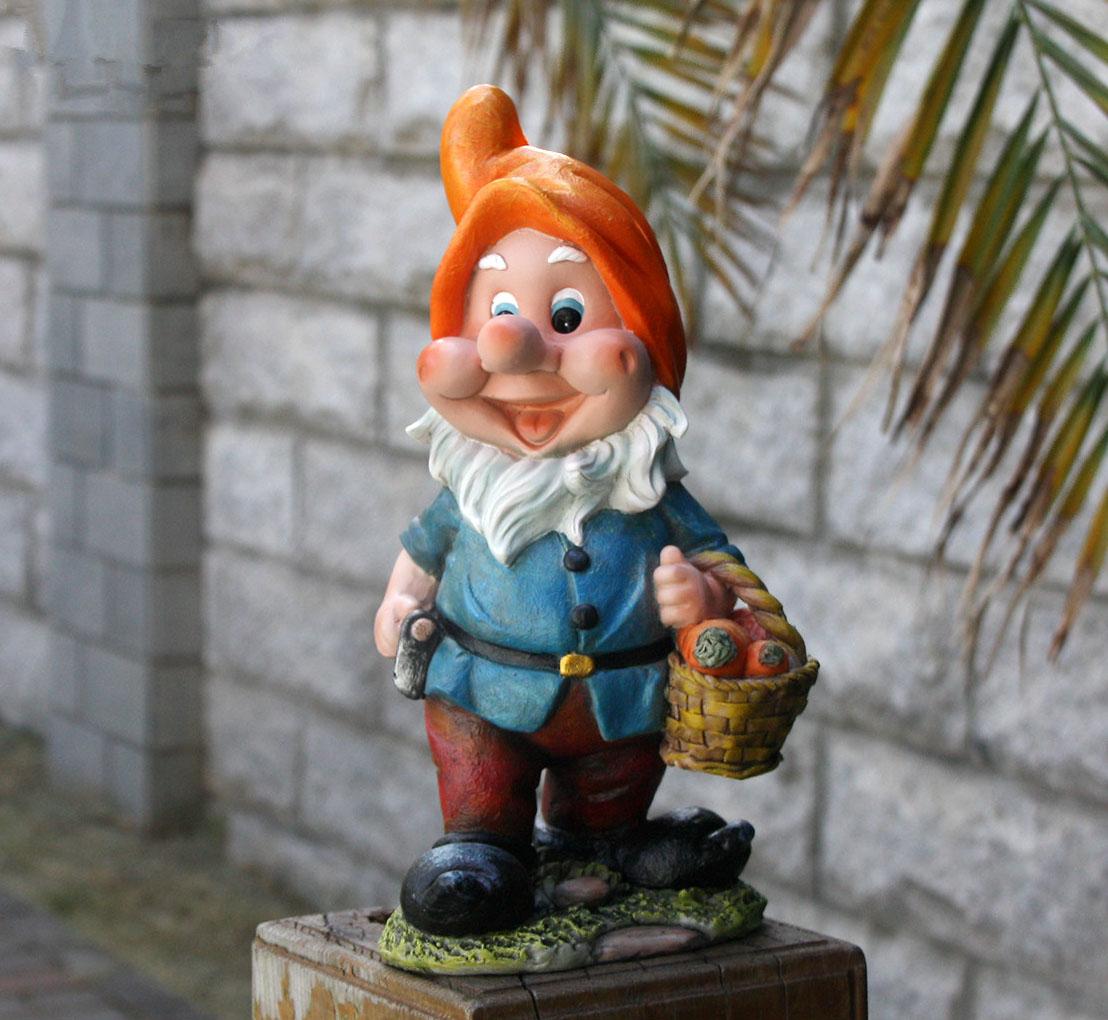 Siete enanos 25cm jard n enano figuras decorativas 91130 1 for Enanos jardin