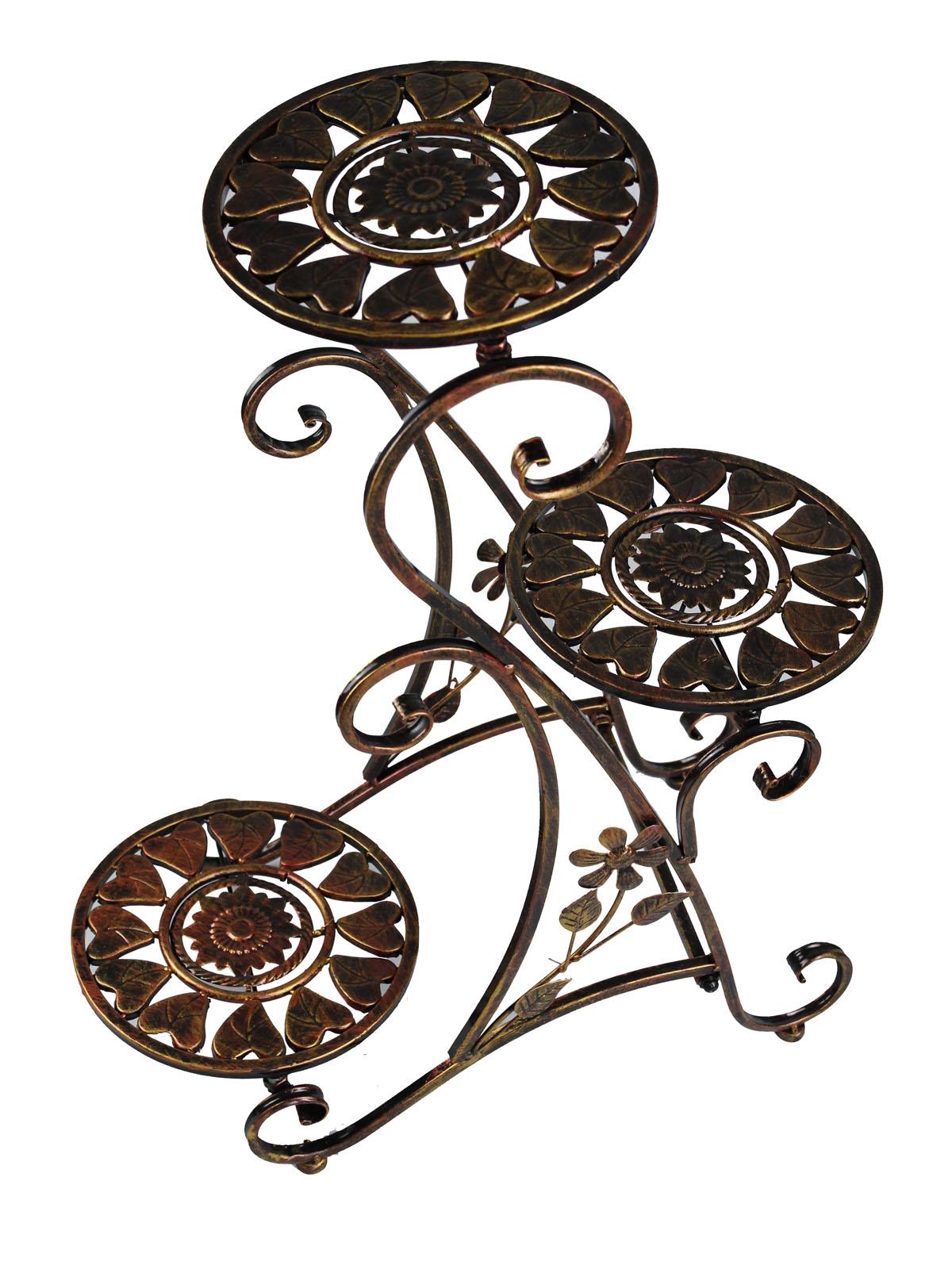 blumentreppe blumenampel eisen metall blumenst nder regal. Black Bedroom Furniture Sets. Home Design Ideas