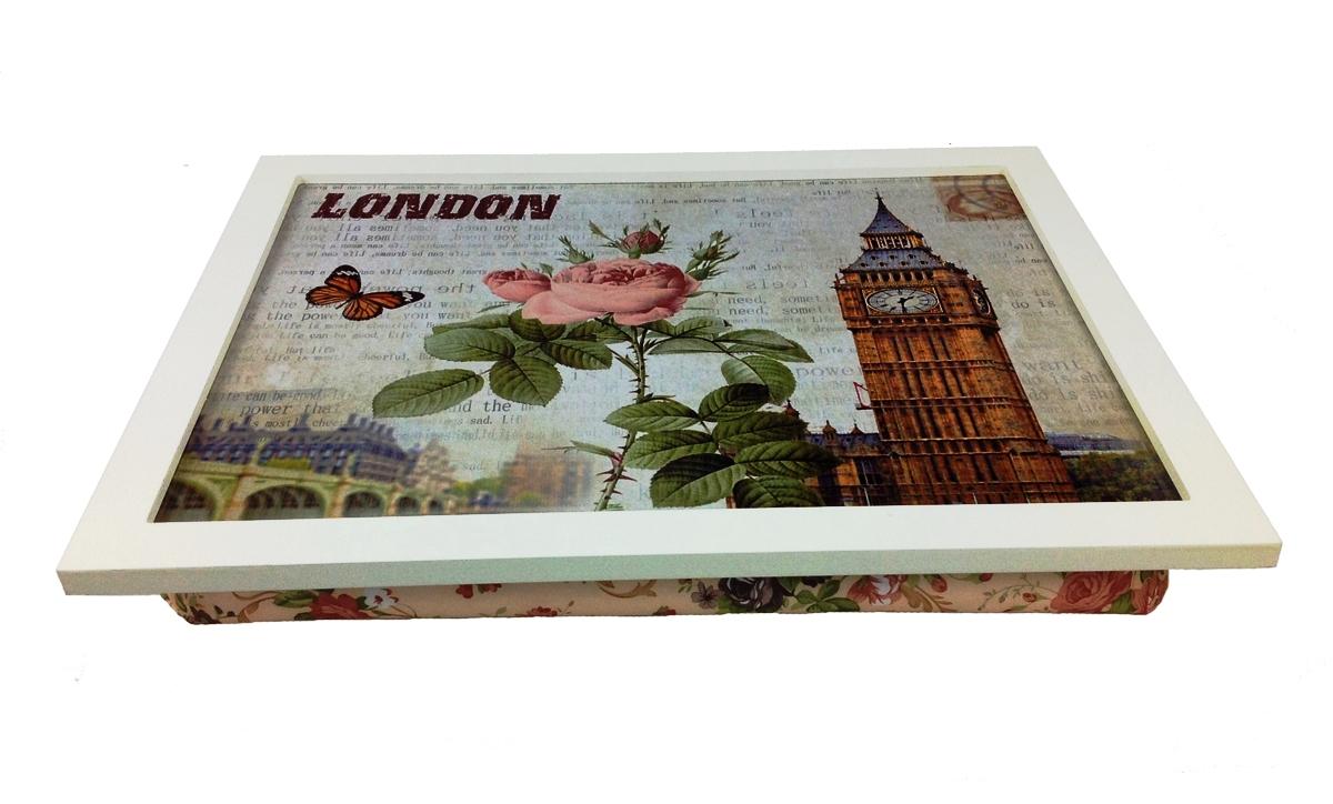 knietablett london knietisch laptop notebook tablett kissen landhaus holz ebay. Black Bedroom Furniture Sets. Home Design Ideas