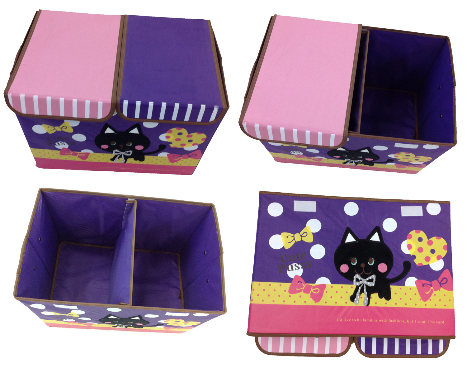 spielzeugbox katze aufbewahrungsbox spielzeugkiste aufbewahrung kinderm bel ebay. Black Bedroom Furniture Sets. Home Design Ideas
