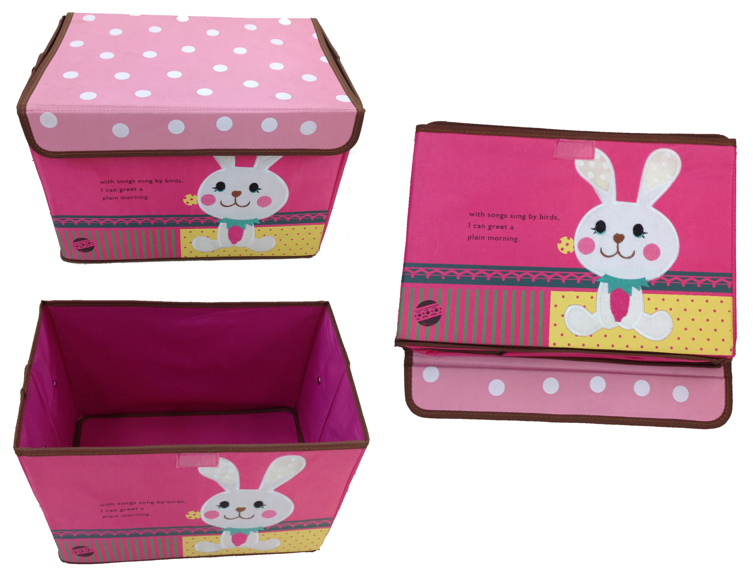 spielzeugbox hase gelb aufbewahrungsbox spielzeugkiste aufbewahrung kinderm bel ebay. Black Bedroom Furniture Sets. Home Design Ideas
