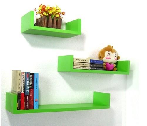 wandregal 3er set design b cher cd regal verschiedene farben neu in 10 farben ebay. Black Bedroom Furniture Sets. Home Design Ideas