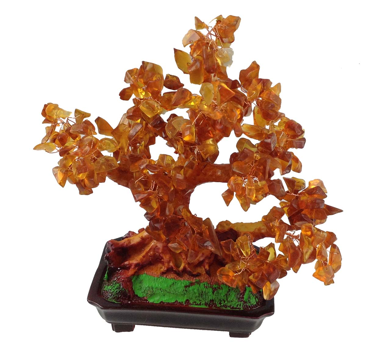 feng shui gl cksbaum 25 cm geldbaum bonsai pfennigbaum handarbeit stein braun ebay. Black Bedroom Furniture Sets. Home Design Ideas