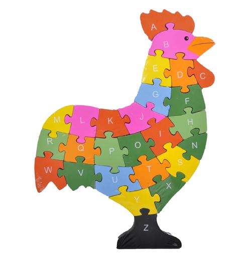 Puzzle Poulet Enfants ABC ou énumérés Jeu éducatif dapprentissage  ~ Puzzle Bois Adulte