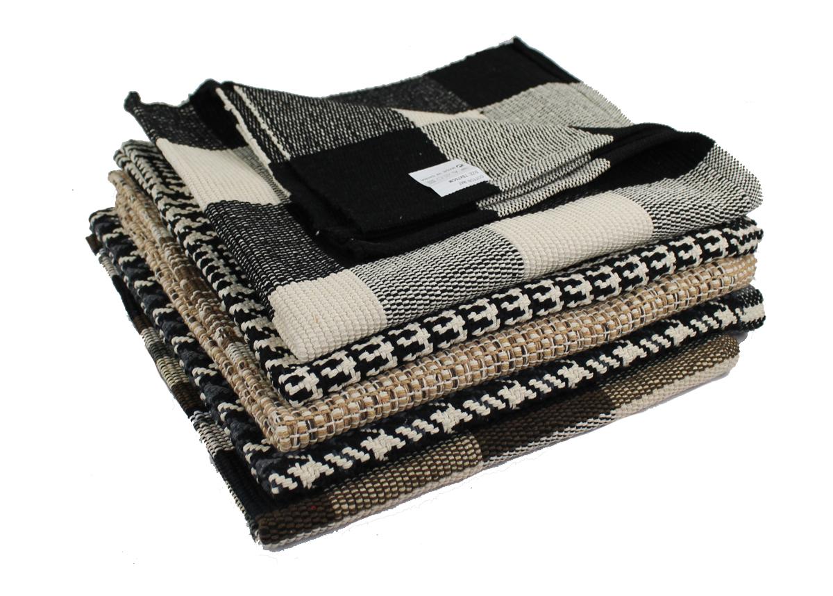 fleckerlteppich baumwolle handweb teppich flickenteppich 70 x 70 cm ebay. Black Bedroom Furniture Sets. Home Design Ideas