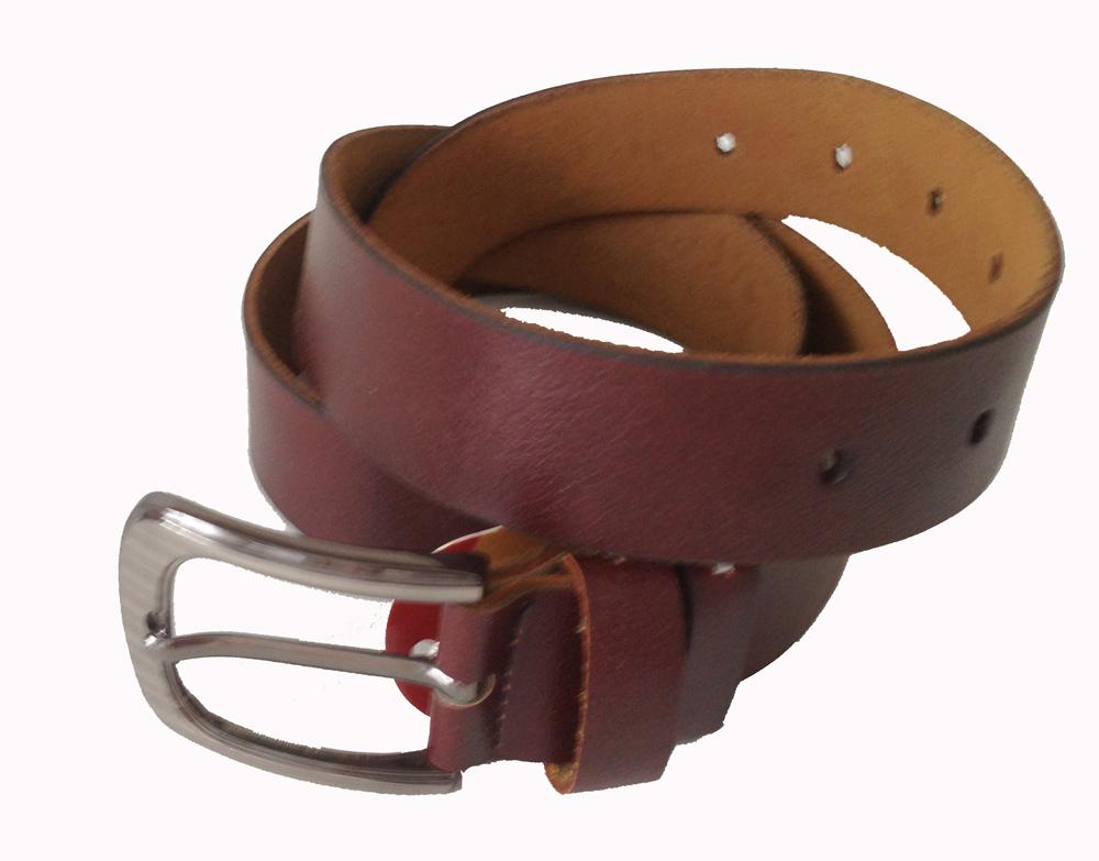 Gürtel Echt Leder Herren Damen Ledergürtel Jeansgürtel Belt 3,5 mm braun 115 cm