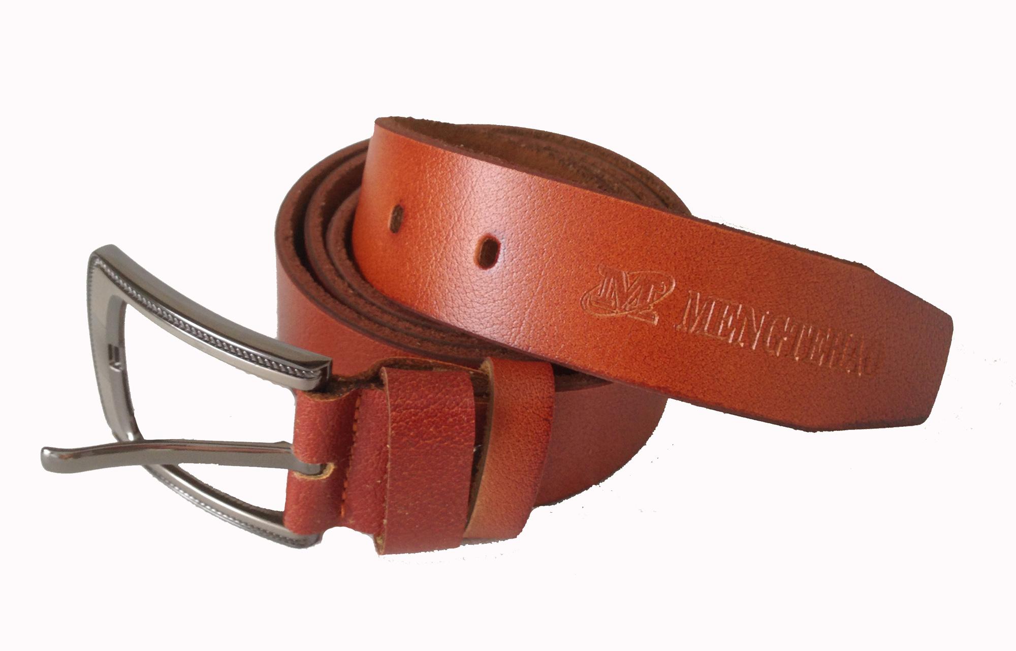 Gürtel Echt Leder Herren Damen Ledergürtel Jeansgürtel Belt 3,5 mm kupfer 110 cm